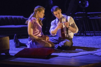 The Glass Menagerie: There is one magical moment in The Glass Menagerie that I don't want to talk about since the surprise of it is part of what makes it magical. (For those of you who've seen the show – the couch moment.) The rapport between Laura and the gentleman caller is a sustained magical moment, thanks to the performances of Celia Keenan-Bolger and Brian J. Smith.