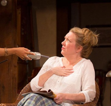 Vanya and Sonia and Masha and Spike: The day after Sonia (Kristine Nielsen) attends a costume party as Maggie Smith, complete with British accent, she receives a telephone call from a gentleman who was at the party. Up to that point, Nielsen has been playing Sonia for laughs and getting them. Suddenly, the conversation, although we hear just her side of it, is one of the most touching moments I've ever witnessed on stage.