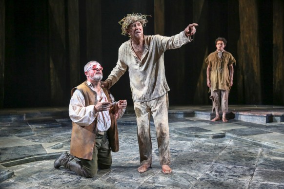 Denis Conway as Gloucester with Frank Langella as King Lear