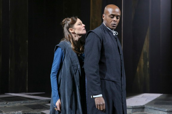 Catherine McCormack as Goneril and Chu Omambala as Albany