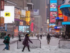 Times Square during Hercules snowstorm, January 3, 2014