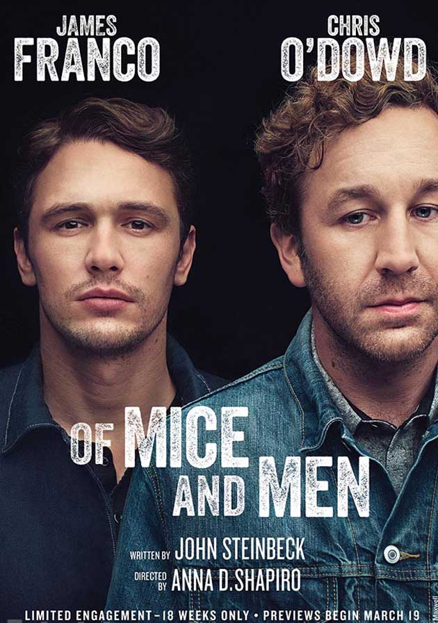 Of Mice and Men Poster with James Franco and Chris O'Dowd
