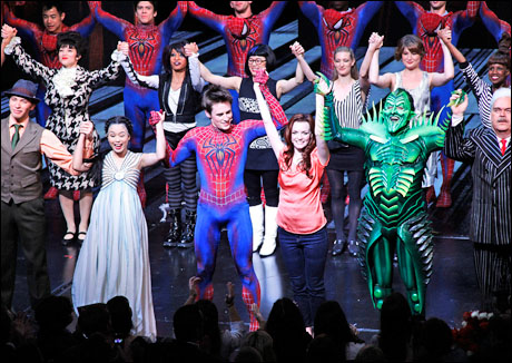 Original Broadway cast, including T.V. Carpio, Reeve Carney, Jennifer Damiano, Patrick Page, and Michael Mulheren