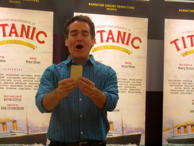 Brian d'Arcy James singing from Titanic, as he did 17 years ago.
