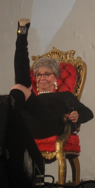 Rita Moreno kicking up her heel
