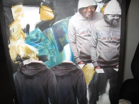 From Hoodie exhibition -- Nelson Mandela in a hoodie