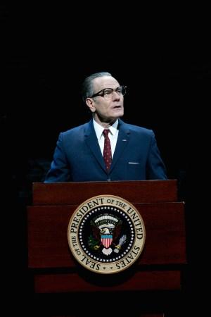 Bryan Cranston as President Lyndon Baines Johnson in All The Way, 2014, by Robert Schenkkan