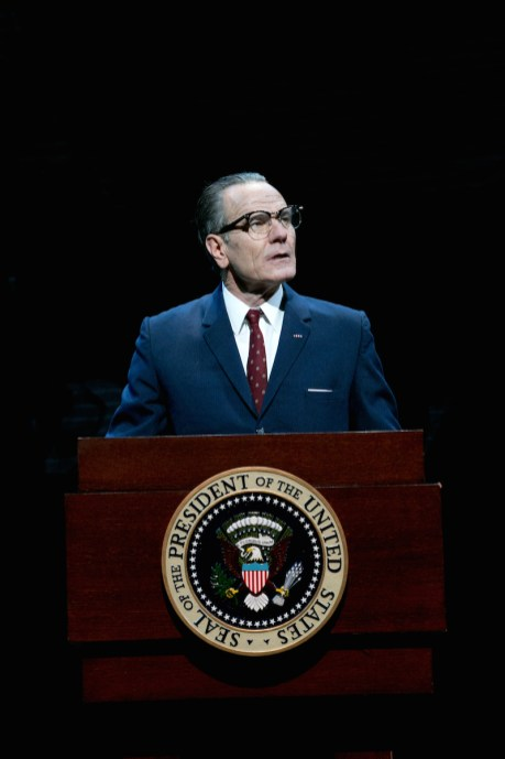 Bryan Cranston as President Lyndon Baines Johnson in All The Way, 2014, by Robert Schenkkan