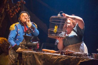 Cliff Saunders and Keala Settle as Monsieur and Madame Thenardier