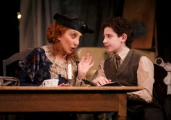 Andrea Martin as crazy Aunt Kate and Matthew Schechter as young Moss Hart inspired by her love of the theater.