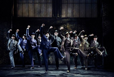 "show-stopping tap dance number in Bullets Over Broadway by Nick Cordero and his fellow goons to the tune of ""Tain't Nobody's Biz-ness If I Do."""