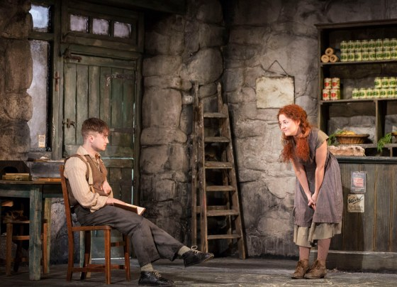 Daniel Radcliffe as Cripple Billy and Sarah Greene as his tormenter Helen