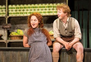 Sarah Greene and Conor MacNeill as sister and brother Helen and Bartley in The Cripple of Inishmaan