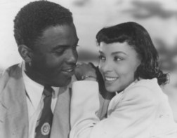 "Ruby Dee with Jackie Robinson in ""The Jackie Robinson Story"""