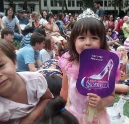 Princess, who's a Cinderella fan, with Cinderella fan, 2014