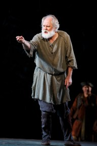 John Lithgow as King Lear in Central Park's Delacorte Theater, August