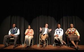 Scene 6 Conference: Lance Coadie Williams, Jessica Frances Dukes, Jesse Pennington, Phillip James Brannon, Benja Kay Thomas in Bootycandy