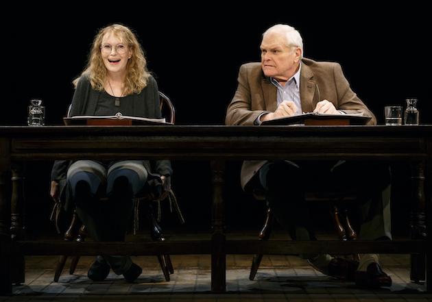 Brian Dennehy and Mia Farrow photo2 by Carol Rosegg