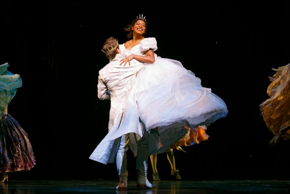 Keke Palmer as Cinderella, Joe Palmer as Prince Topher (Prince Charming)