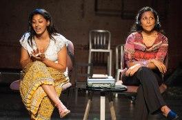 Lipica Shah as Gita and Indika Senanayake as Nakti, two late-night car dispatchers
