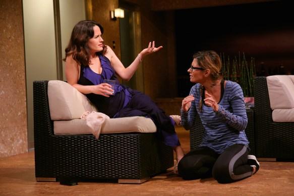 Elizabeth Reaser as Karen the movie star and Callie Thorne as her partner Bev.