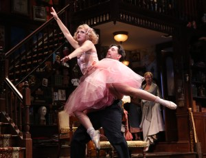 By doing nothing more than doing fake ballet moves, Annaleigh Ashford, turns her lines into memorable hilarity in