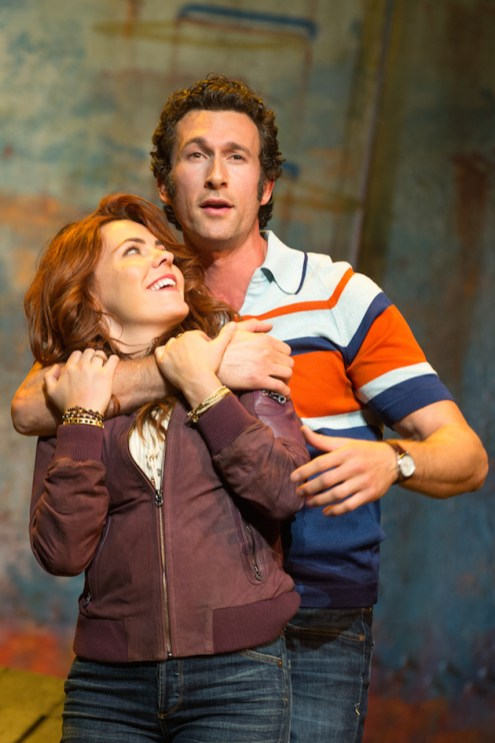 Rachel Tucker and Aaron Lazar