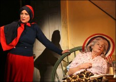 Christine Ebersole and Mary Louise Wilson as Edie and Edith Beale in Grey Gardens