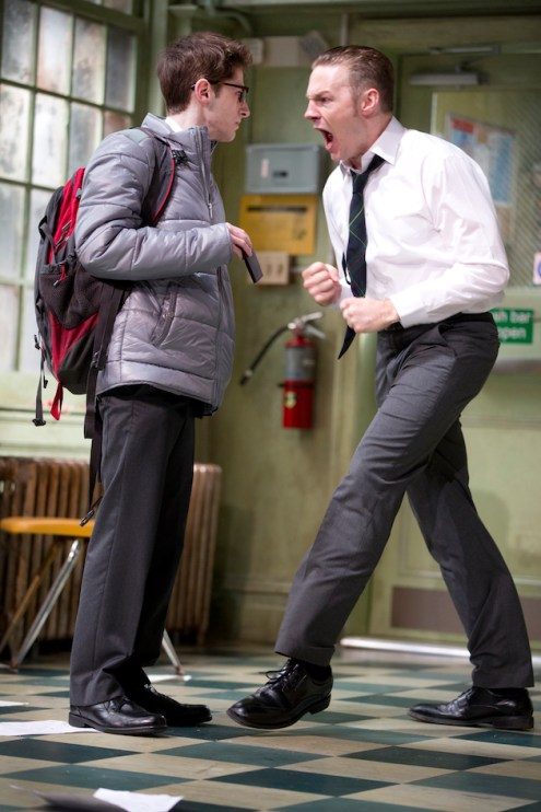 Noah Robbins as Chadwick the brain and Will Pullen as Bennett the bully