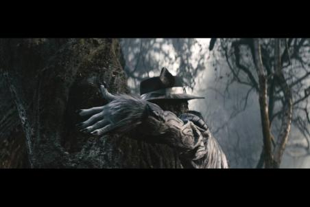 An obscured Johnny Depp as the wolf