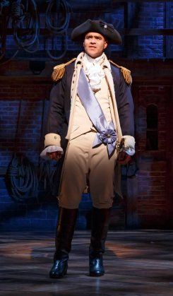 Christopher Jackson as George Washington in Hamilton, 2015