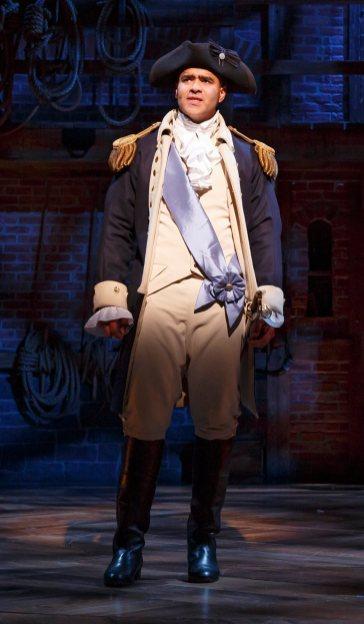 Christopher Jackson as George Washington in Hamilton, 2015