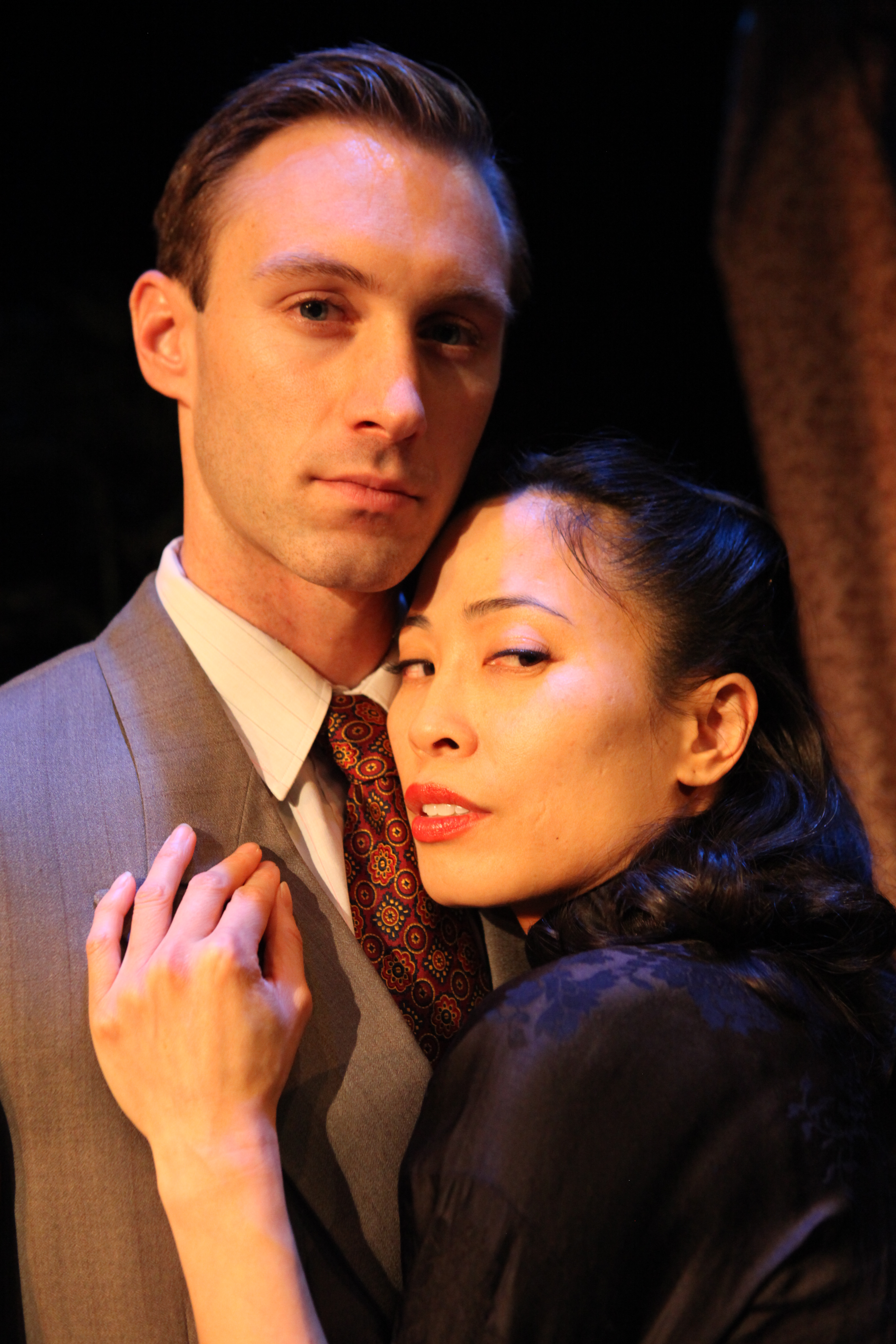 Film Chinois Benjamin Jones is Randolph and Rosanne Ma is Chinadoll in FILM CHINOIS by Damon Chua directed by Kaipo Schwab photo by John Quincy Lee