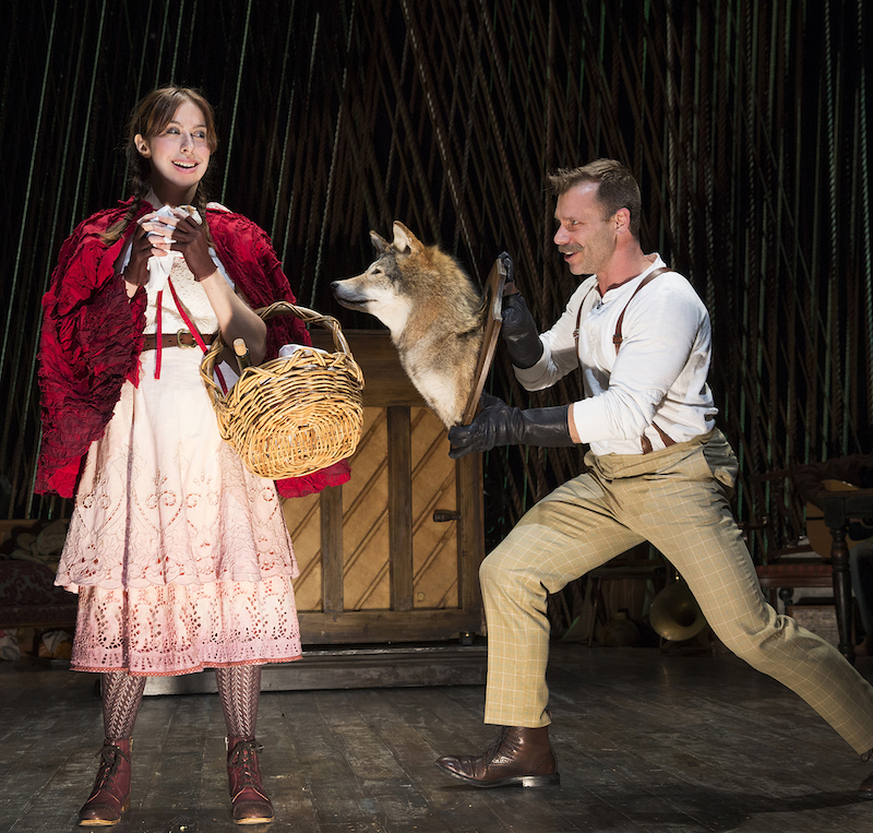 Little Red (Emily Young) and the Wolf (Noah Brody)