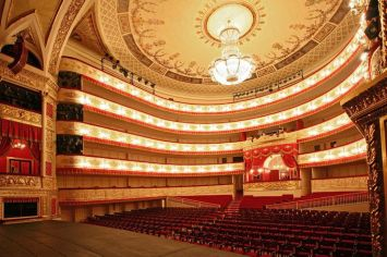 The Alexandrinsky Theater in St. Petersburg, Russia,