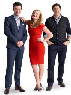 Bryce Pinkham, Elisabeth Moss and Jason Biggs in The Heidi Chronicles