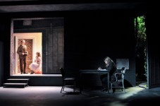 In The Nether, a play that imagines a near-future when people start to live almost exclusively in a virtual world with fake personas, there is a moment when a little girl (who is actual an avatar of an old man) is raped and axed to death -- done discreetly, but memorably nonetheless.