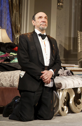 F. Murray Abraham as the vile critic Ira Drew in It's Only A Play