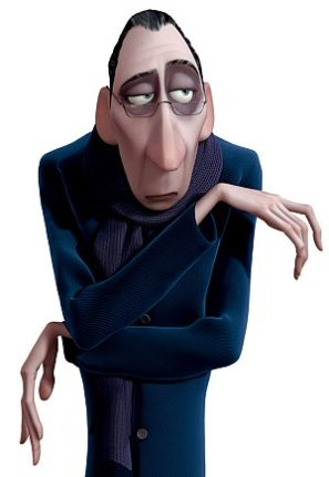 Acerbic food critic Anton Ego in Ratatouille