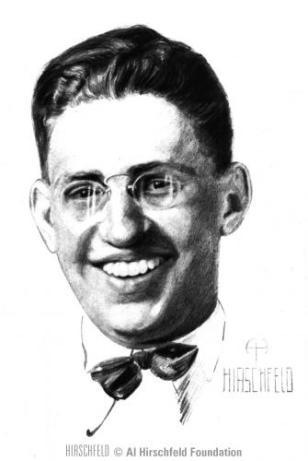 David O Selznick, which Al Hirschfeld drew in 1922