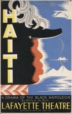 Vera Bock (1905–73) Haiti; A Drama of the Black Napoleon by William Du Bois at Lafayette Theatre, 1938 Screenprint on board Collection of Merrill C. Berman