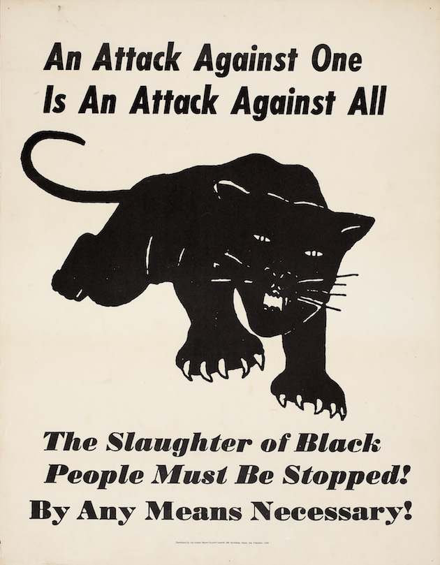 Distributed by the Robert Brown Elliott League An Attack Against One is An Attack Against All, ca.1970 Lithograph on paper Collection of Merrill C. Berman