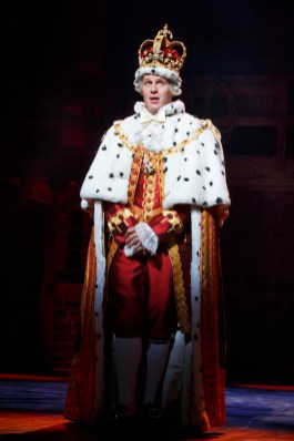 Jonathan Groff as King George III in Hamilton