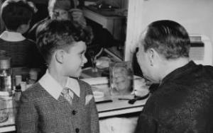 John Lahr with his father Bert Lahr
