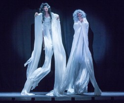 "From left: Joey Arias and Julie Atlas Muz in Basil Twist's ""Sisters' Follies"": Between Two Worlds"
