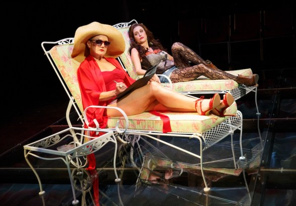 """Alison Fraser as Nancy Reagan and Caissie Levy as her daughter Patti Davis in """"Patti By The Pool"""" from First Daughter Suite"""
