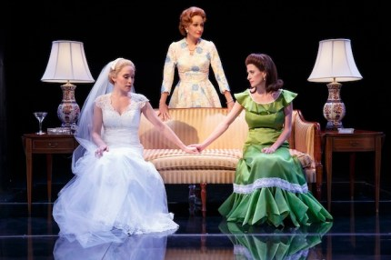 "First Daughter Suite Betsy Moran as Tricia Nixon, Barbara Walsh as Pat Nixon and Caissey Levy as Julie Nixon Eisenhower in ""Happy Pat"""