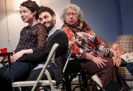 The Humans, Off-Broadway, with Sarah Steele, Arian Moayed, and Jayne Houdyshell
