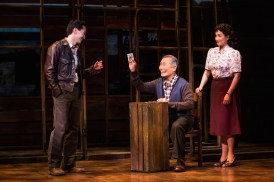 Michael K. Lee, George Takei and Lea Salonga