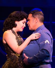 Andréa Burns Burns & Eliseo Roman - as Gloria Estefan's parents - in ON YOUR FEET! (c) Matthew Murphy